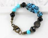 Zentangles in Turquoise Bracelet