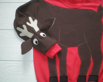 Rudolph the Red Nosed Reindeer sweatshirt, Deer sweatshirt, deer shirt, Christmas sweater, Christmas sweatshirt, adult unisex sizes