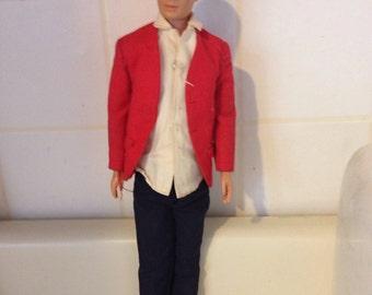 1960 authentic Ken doll ...wearing authentic Ken Sports jacket.