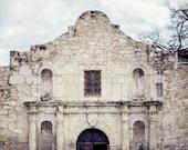 Alamo Photography, Texas Wall Art, The Alamo Picture, Spanish Architecture, Southwestern Decor, San Antonio Texas, Alamo Rustic Wall Art.