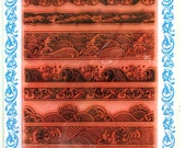 Waves borders - FLONZ clear stamps - set 2