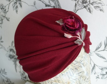 Red Rose Vintage style Turban