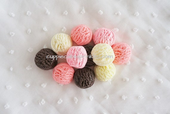 5pcs ((LAST)) Ice Cream Scoops Mix Decoden Cabochon (24mm) IC10010