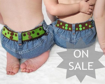 Boy Toddler Belt - Reversible - Brown & Green