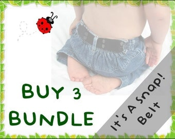 It's A Snap! Belt BUNDLE - Buy 3 & Save - elastic belts for toddlers to age 5+