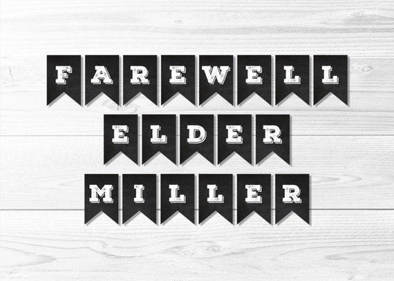 Farewell Elder Missionary Banner Chalkboard Banner LDS