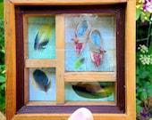 Chickadee's Very Tiny Fairy Shoes Framed 3D Mixed Media