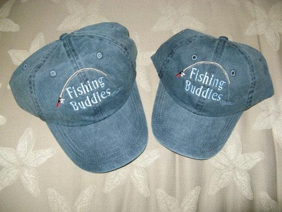 Fishing buddies baseball caps matching dad and son grandpa and for Fishing baseball caps