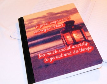 Great way to save money, social anxiety  -  Blank Journal Note Book MTCoffinz