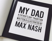 Father's Day Personalized Custom Questionnaire and Picture Hardback  Book