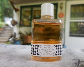 Vintage 1950s to 1970s France Miss Dior Christian Dior Perfume Bottle Miniature Eau De Toilette Mini French Full