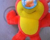 Vintage CHUCKLES Playskool Mini Nosy Bear Clown Nose Orange Shakers Bears 80s