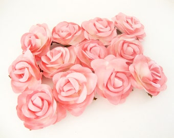 Pink Paper Roses Flowers Large