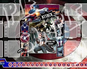 Captain America Dice Masters Play Mat