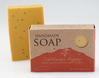California Poppy - Handmade Vegan Soap - California Native Plant