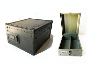 Military Ammo Box Wood Ammunition Case Metal Detail and Rivets