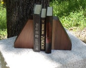 Solid Black Walnut Bookends from BlackWater Workshops