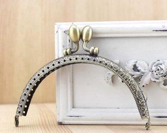 10.5cm(4.13inch) antique bronze sewing bag metal purse frame A036