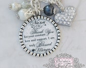 NANA Necklace, Thank you for your constant love,Wedding Jewelry,Personalized Wedding Gift, Nana Gift, GRANDMA Wedding Gift, Grandma Necklace