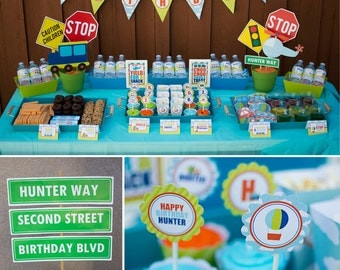 DIY Printable Collection TRANSPORTATION PARTY