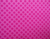 PINK POLKA DOTS * All Cotton Printed Fabric * Pink with Pink Dots * Pink * Girls * Kids * Crafts