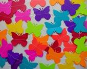 BUTTERFLY GARLAND * Rainbow Butterfly Paper Garland * Paper Banner/Bunting * Kids * Birthday * Handmade * Reversible * 10 Ft. * BUTTERFLIES