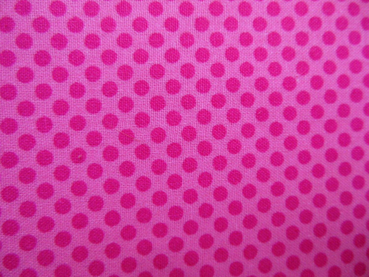 pink polka dots all cotton printed fabric pink with pink. Black Bedroom Furniture Sets. Home Design Ideas