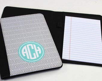 Personalized Notebook - Monogrammed Folio - Large Notebook - Monogrammed Gift - Graduation Gift - Teacher Gift