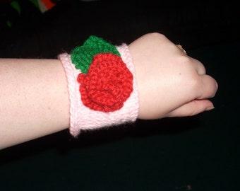 Knit Rose Armband