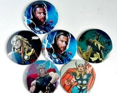 Comic Pocket Mirror Featuring Thor and Loki