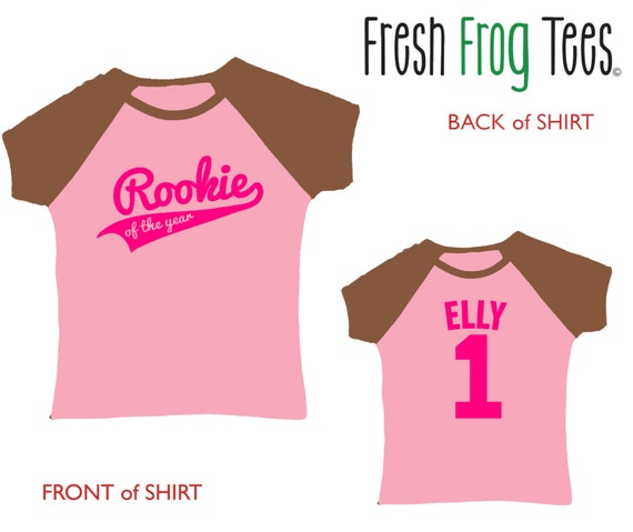 Personalized First Birthday Shirt  Rookie of the Year - any age and name - pick your colors!