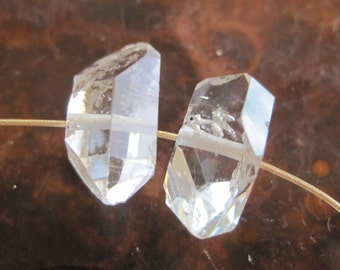 Real Herkimer Diamond Beads Drilled Upstate N.Y. Mined Quartz Destash Jewelry Making Supply