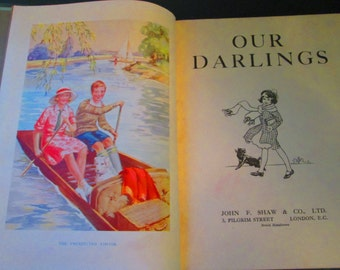 1920s Children Book / Our Darlings Book / First Edition / Stories for Children