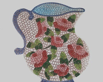 TRV0031 Horchow Made in Italy Trivet Shaped as a Teapot and Covered in Roses