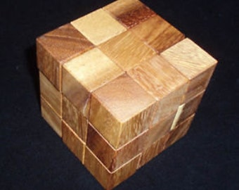 Interlock 4 Sequential Wood Puzzle and Brain Teaser.