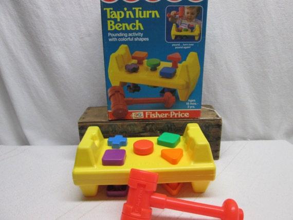 Fisher Price Tap N Turn Bench Original Box Like New By Heyjunkman