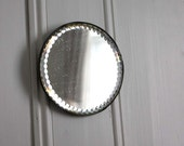 Vintage Small Round Wall Mirror with Bevelled Edge