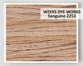 SANGUINE 2253 Weeks Dye Works WDW hand-dyed embroidery floss cross stitch thread at thecottageneedle.com