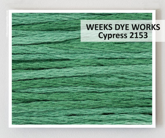 CYPRESS 2153 : Weeks Dye Works WDW 6-strand embroidery floss and-dyed thread cross stitch The Cottage Needle