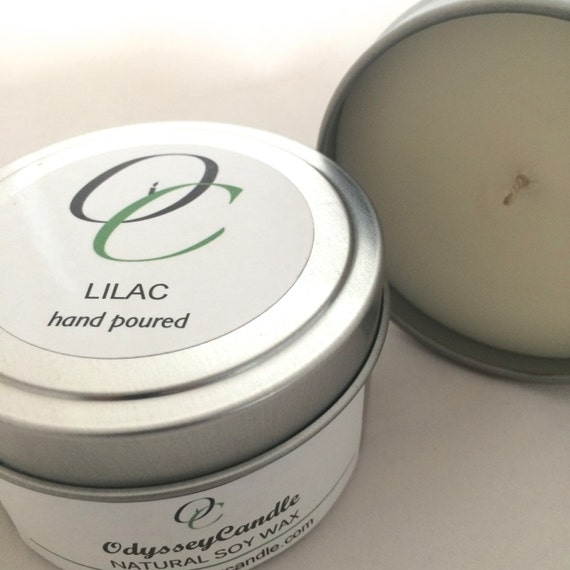 LILAC//Highly Scented SOY CANDLE 6oz Tin