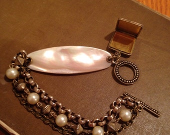 Mother of Pearl Assemblage Bracelet