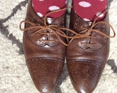 Brown lace up oxfords