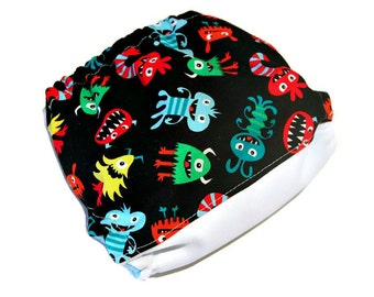 Monster Toss One Size Pocket Cloth Diaper