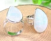 Mother's Day Gift,Mom Gift,Mom,Moonstone Ring,Adjustable Ring,Stone Ring,Rough Stone Ring,Genuine Moonstone Ring,Adjustable Ring,Moonstone