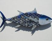 Bottlecap Fish Albacore Tuna Metal Bottle Cap Fish Wall Art