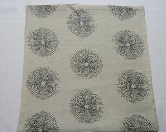 Tan/Black starburst linen pillow covers