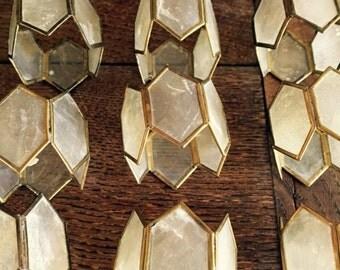 Set of 12 capiz napkin rings