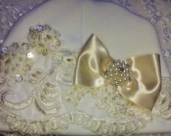 Newborn Girl Ivory Lace Hospital Hat Layette