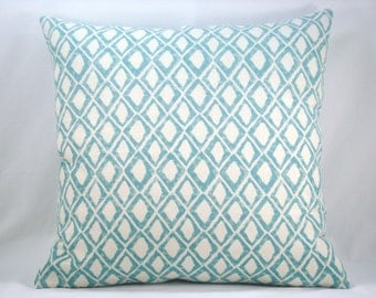 Nate Berkus Aquamarine Linen Pillow Decorative Modern Accent Pillow 18x18 Linen Pillow Cover
