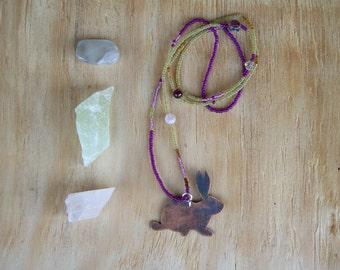 Rabbit Totem Beaded Necklace